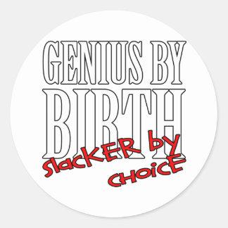Genius Slacker Round Sticker