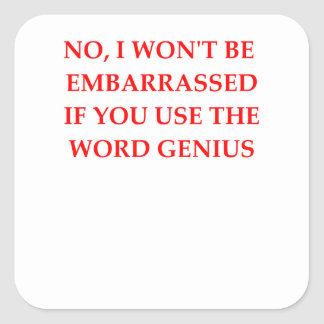 GENIUS SQUARE STICKER