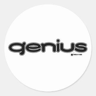 Genius Round Stickers