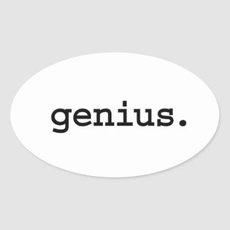 genius. oval sticker
