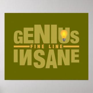 GENIUS VS INSANE custom poster