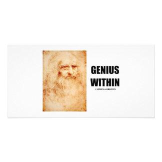 Genius Within (Leonardo da Vinci Self-Portrait) Photo Card Template