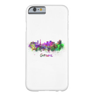 Genoa skyline in watercolor barely there iPhone 6 case