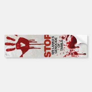 Genocide of Tamils Bumper Sticker