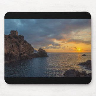 Genoese Tower in Porto Sunset Ota Corsica France Mouse Pad