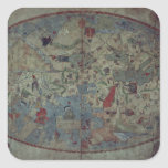 Genoese world map, designed by Toscanelli Square Sticker