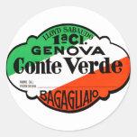 GenovaConteVerde Round Sticker