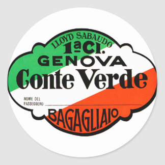 GenovaConteVerde Round Sticker