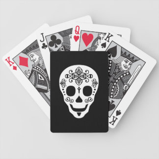 Gent Sugar Skull by Leslie Peppers Bicycle Playing Cards