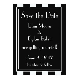 """Genteel"" Save the Date Card"