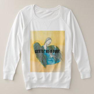 Gentle as a dove womens long sleeved tee shirt