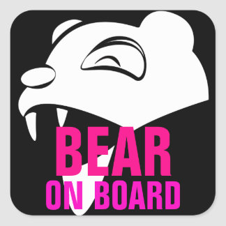 Gentle Bear Square Sticker