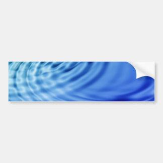 Gentle blue water ripples bumper sticker