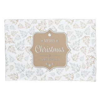 Gentle Christmas Trees  Pillow Case