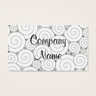 Gentle Geometric Black & White Spirals Business Card