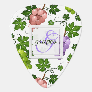 Gentle Grapes and Grapevines Guitar Pick