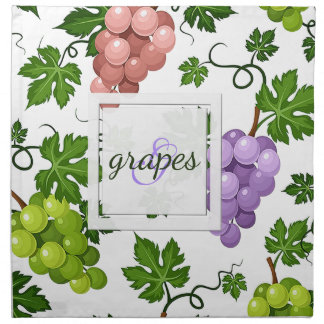 Gentle Grapes and Grapevines Napkin