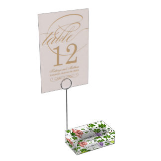 Gentle Grapes and Grapevines Place Card Holder
