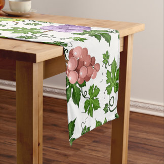 Gentle Grapes and Grapevines Short Table Runner