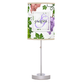 Gentle Grapes and Grapevines Table Lamp