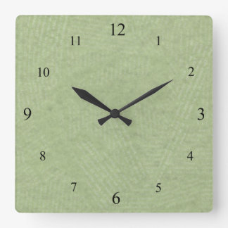 Gentle Green Clock