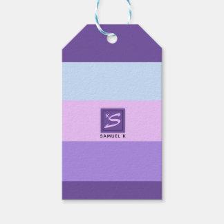 Gentle Lavender Dreams Color Palette Monogram Gift Tags