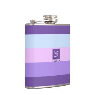 Gentle Lavender Dreams Color Palette Monogram Hip Flask