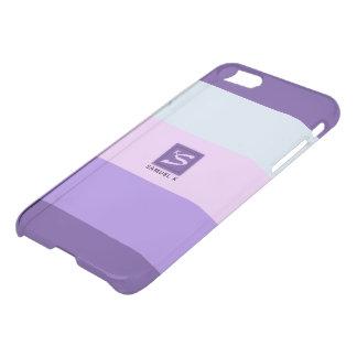 Gentle Lavender Dreams Color Palette Monogram iPhone 8/7 Case