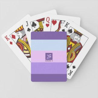 Gentle Lavender Dreams Color Palette Monogram Playing Cards