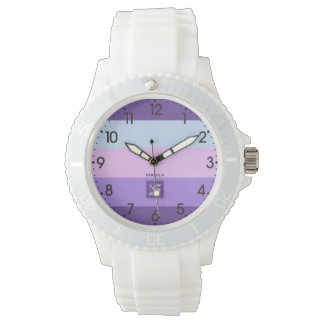 Gentle Lavender Dreams Color Palette Monogram Watch