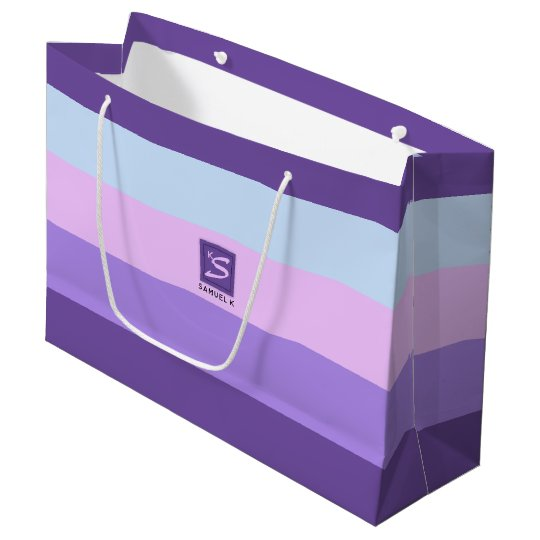 Gentle Lavender Dreams Colour Palette Monogram Large Gift Bag