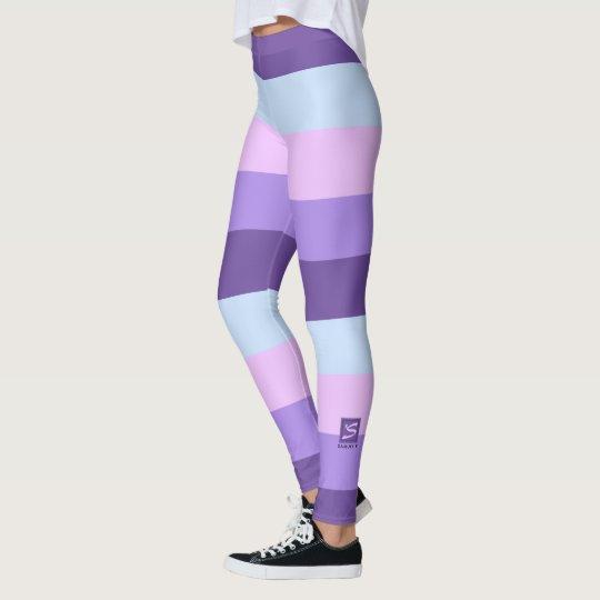 Gentle Lavender Dreams Colour Palette Monogram Leggings