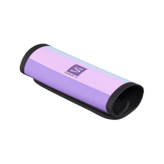 Gentle Lavender Dreams Colour Palette Monogram Luggage Handle Wrap