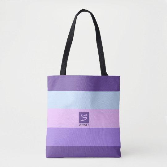 Gentle Lavender Dreams Colour Palette Monogram Tote Bag