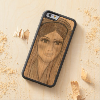 Gentle Mary Carved Cherry iPhone 6 Bumper Case