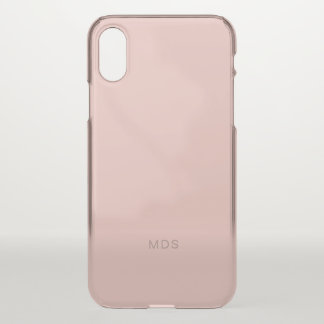 Gentle Millennial Rose Pink iPhone X Case
