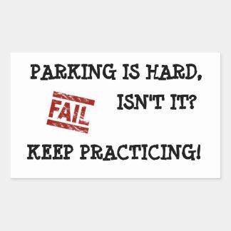 Gentle Parking Encouragement Sticker