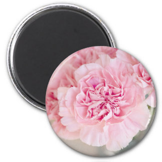 Gentle pink peony flower bloom petals closeup 2 inch round magnet