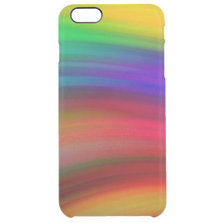 Gentle Rainbow Waves Abstract Clear iPhone 6 Plus Case