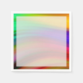 Gentle Rainbow Waves Abstract Disposable Napkin