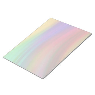Gentle Rainbow Waves Abstract Notepad