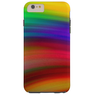 Gentle Rainbow Waves Abstract Tough iPhone 6 Plus Case