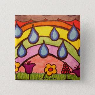 Gentle Raindrops 2 Inch Square Button