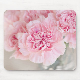 Gentle soft pink peony flower petals closeup mouse pad