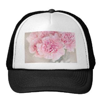Gentle soft pink peony flower petals closeup trucker hat
