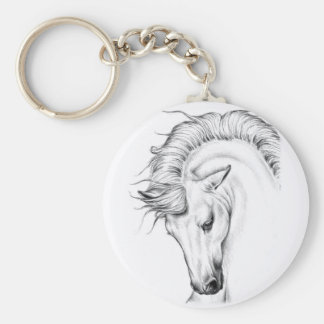Gentle Stallion Keychain
