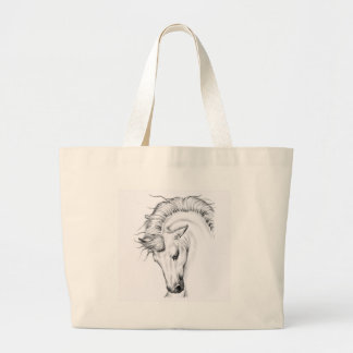 Gentle Stallion Large Tote Bag