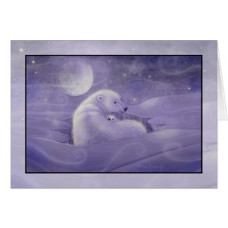 Gentle Winter Polar Bear Holiday Card