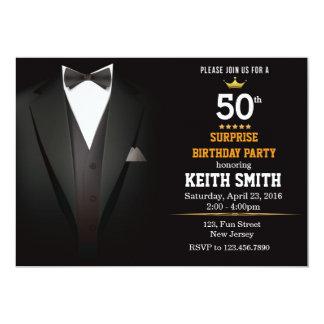 Gentleman Birthday invitation