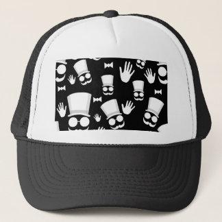 Gentleman - black and white pattern trucker hat